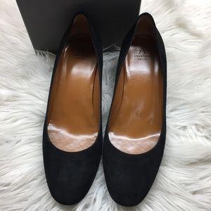 Aquatalia Black Suede Heels 8.5M